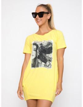 Ribbed Dress - Yellow