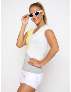 Tricolor Top - Yellow
