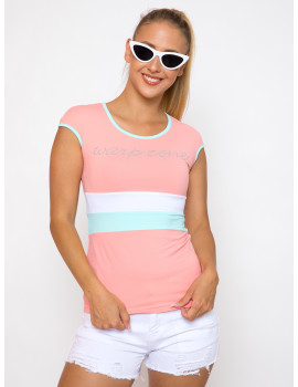 Round neck Top - Coral