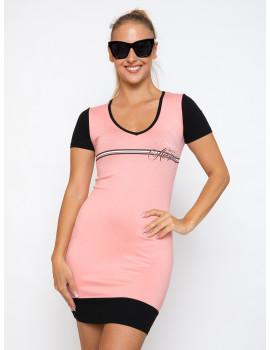 V-neck Dress - Coral