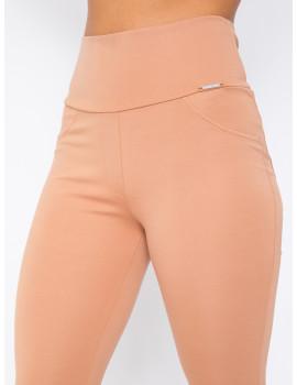 Elastic Punto Trousers - Camel