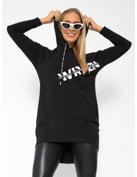 Cotton Hoodie with Pockets - Black