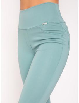 Elastic Punto Trousers - Mint
