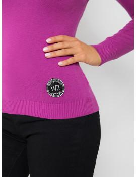 V-neck Light Knit - Plum