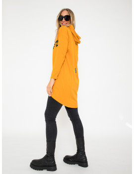 Cotton Hoodie with Pockets - Ochre