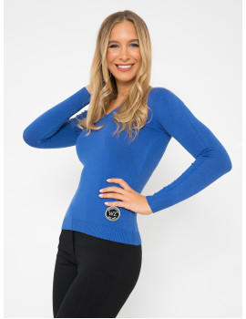 V-neck Light Knit - Royal Blue