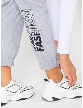 Elastic Cotton Jogger - Grey