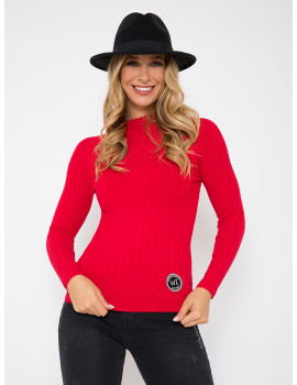 Ribbed Light Knit - Red