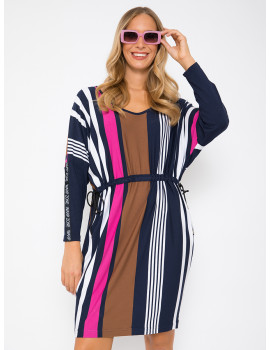 Striped Tunic - Pink-Navy