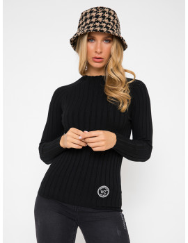 Ribbed Light Knit - Black