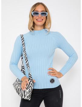 Ribbed Light Knit - Ice Blue