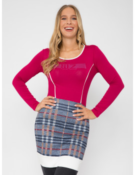Letty Check Top - Pink