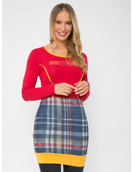 Letty Check Top - Red