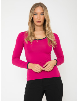 Round Neck Top - Pink