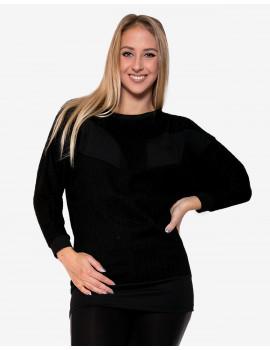 Amira Knit Top - Black & Black