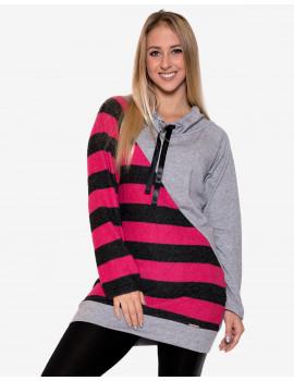 Elanor Tunic - Grey & Pink
