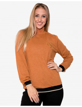 Ines Knit Top - Brown