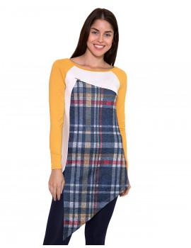 Plaid Tunic - Yellow