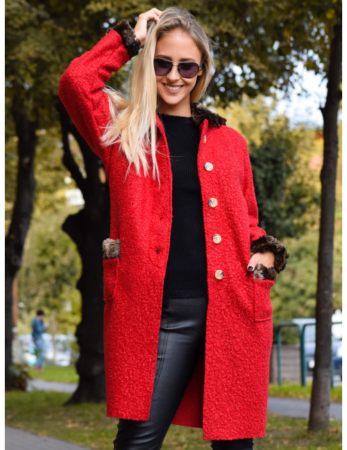 Hooded Coat - Red