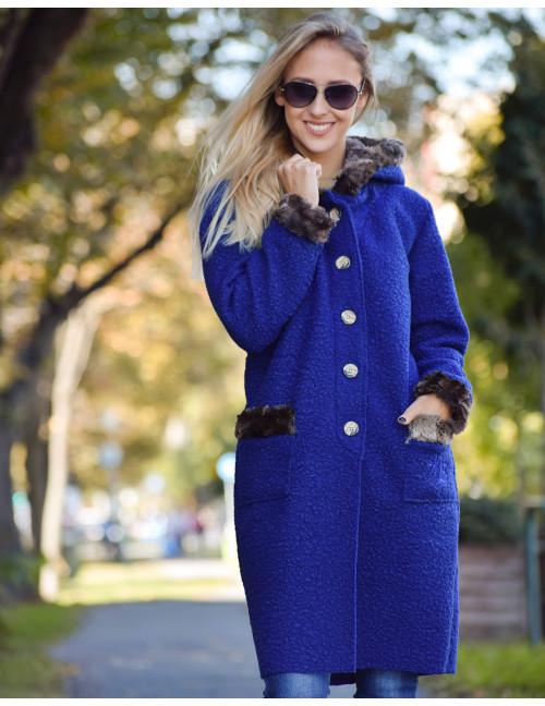 Hooded Coat - Blue
