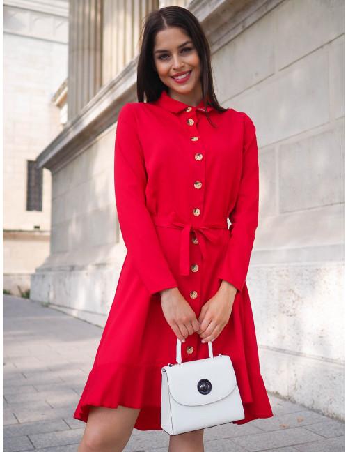 Ruffle Dress - Red