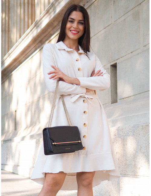 Ruffle Dress - White