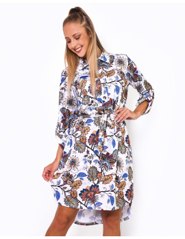 Patterned Dress - Blue