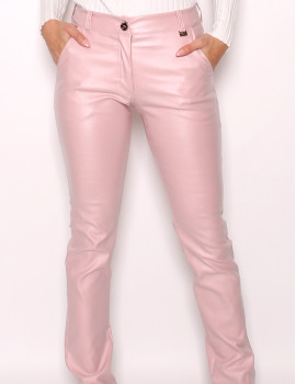 Faux Leather Pants - Baby Pink